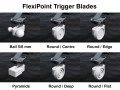 Flexipoint trigger blades