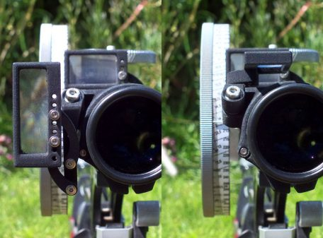 Folding-up magnifier, rear view