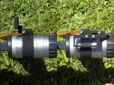Folding-up magnifier, top view