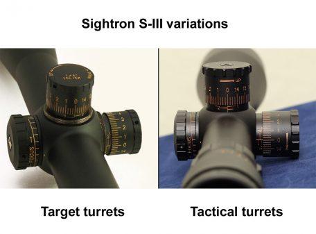 Sightron S-III turrets