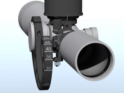 Equal 10 mm gaps between 32-50 m (35-55 yds)